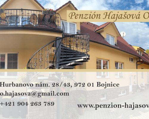 Penzión Hajašová Oľga - vizitka