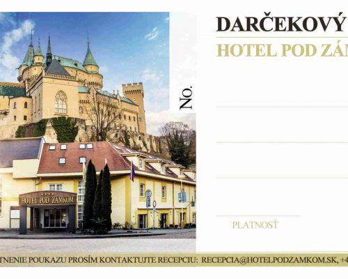 Hotel pod Zámkom - darčekový poukaz