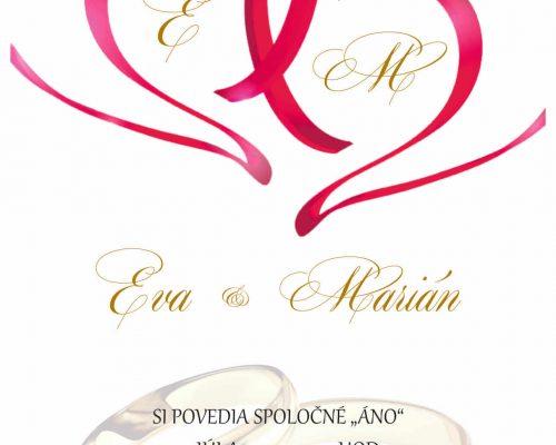 Oznámenie - svadobné